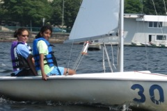 teen girls sailing